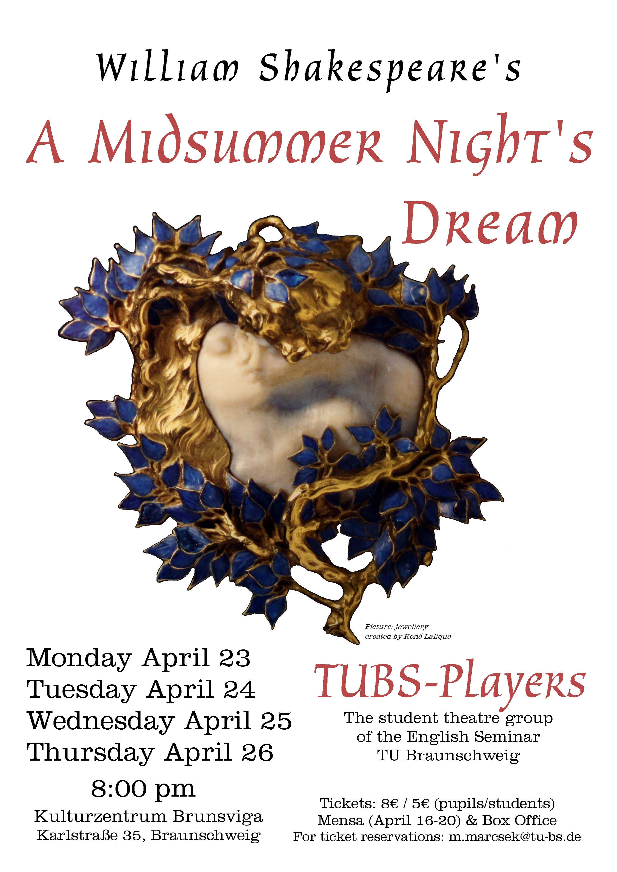 TUBS-Players - A Midsummer Night's Dream - Poster- SoSe 2012